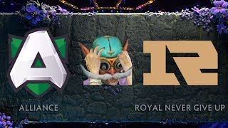 Alliance VS Royal Never Give Up TI9 Highlights (W/ Reaction To Mistake Pick)