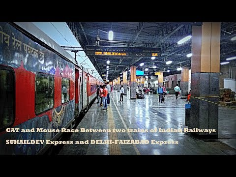 An Epic CAT & Mouse Race between SUHAILDEV and DELHI - FAIZABAD Express