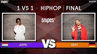 SNIPES FUNKIN STYLEZ 2019 - HIP HOP FINAL - JEEMS vs. UKAY