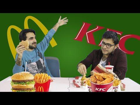 McDonalds yoxsa KFC? - 7 manat ilə Test etdik!