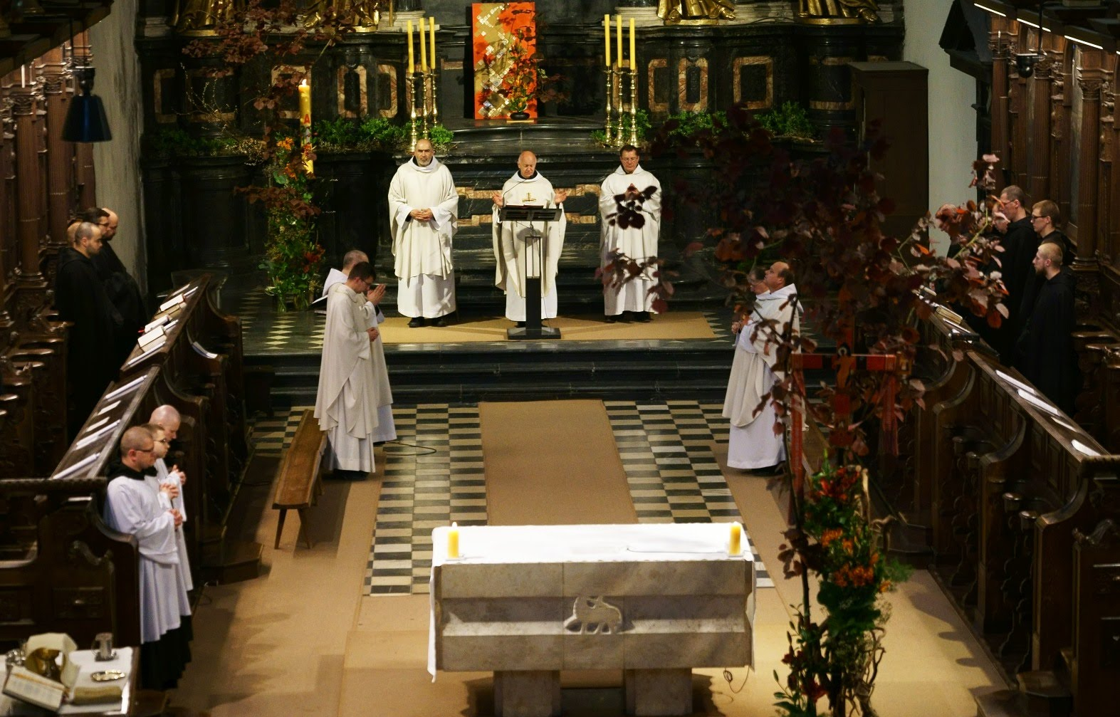 Transmisja na żywo z kościoła w Opactwie Benedyktynów w Tyńcu.