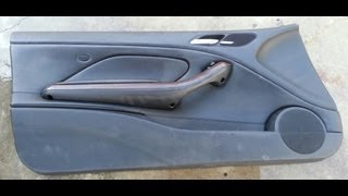 BMW E46 M3 330ci 328ci 325ci Front Door Interior Panel Removal
