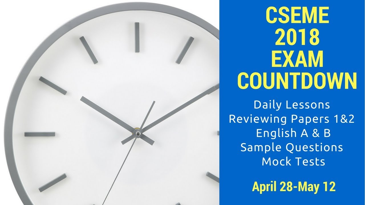 csec english a section c exam review 2018 exam format youtube