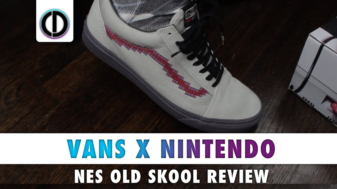 1afab4aaa3 Vans X Nintendo NES Themed Old Skool  Console Dove (Review) - YouTube