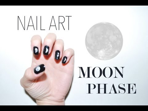 Nail Art Moon Phasealyssiafrench With English Subtitles