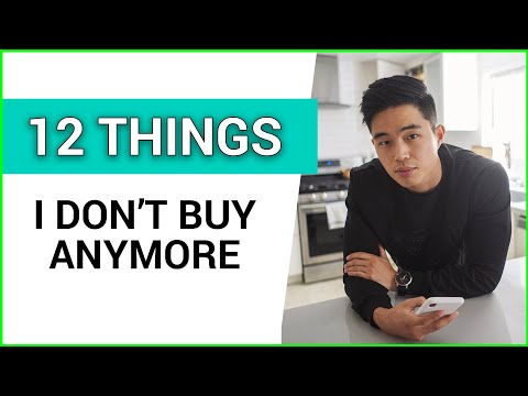 12 Common Things I Stopped Buying (save MORE Money)