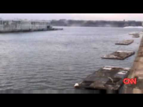 US Airways Hudson jet crash-landing caught on cctv videos