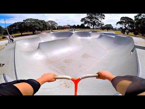AUSTRALIA'S BIGGEST SKATER BOWL ON SCOOTER!
