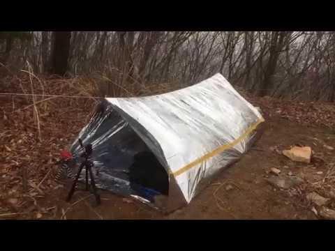 텐트 침낭없이 산에서 1박하기 | 비상용품 테스트 | 구나무산 비박