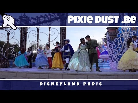Close up evening version of The Starlit Princess Waltz at Disneyland Paris   FULL SHOW HD 1080p