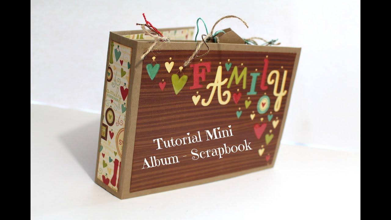 Tutorial mini album scrapbook en espa ol encuadernaci n de - Como hacer un album de fotos ...