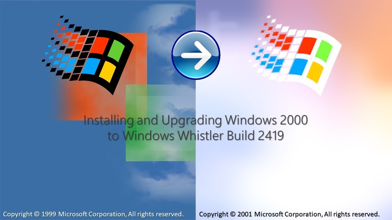 Installing and Upgrading Windows 2000 to Windows Whistler Build 2419