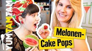 Wassermelone im CAKE POP? // Cake Pops im Wassermelonen-Style // #yumtamtam