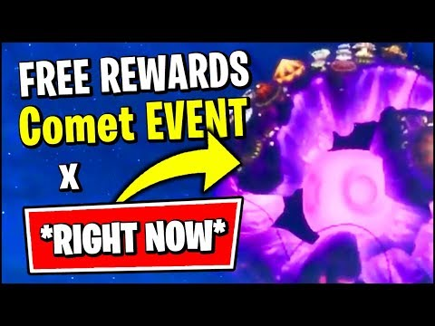 FORTNITE ASTROWORLD COMET EVENT IS HAPPENING *RIGHT NOW* (FREE REWARDS)