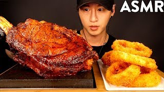 ASMR COWBOY STEAK & ONION RINGS MUKBANG (No Talking) COOKING & EATING SOUNDS | Zach Choi ASMR