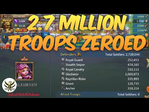 SOLO ZEROING 2.7 MILLION TROOPS Lords Mobile