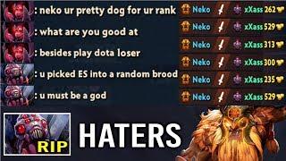 When Pro Player Meet Trash Talk Hater In Dota 2! Epic Earthshaker Delete Brood Like a Boss by Neko