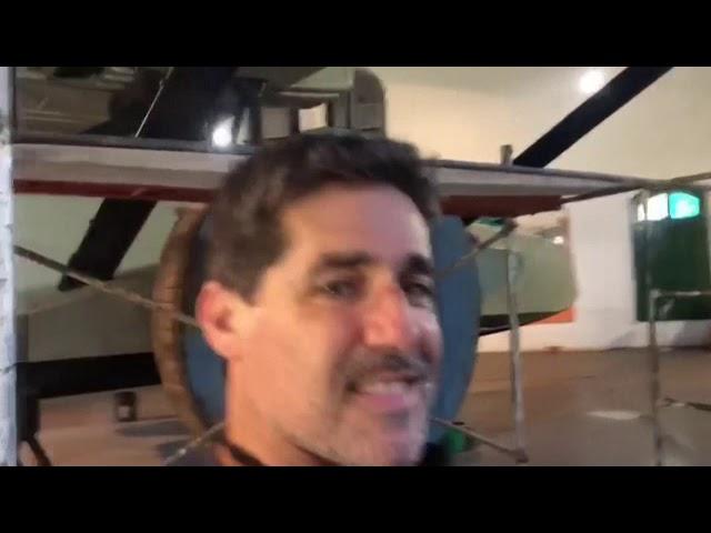 Mira el primer avión que acabó el viaje de Europa a Sudamérica