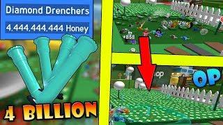 Kaufen *4,4 BILLION* Honig im Wert von DIAMOND Sprinkler ( Drenchers )!!! - Roblox Bee Schwarm Simulator
