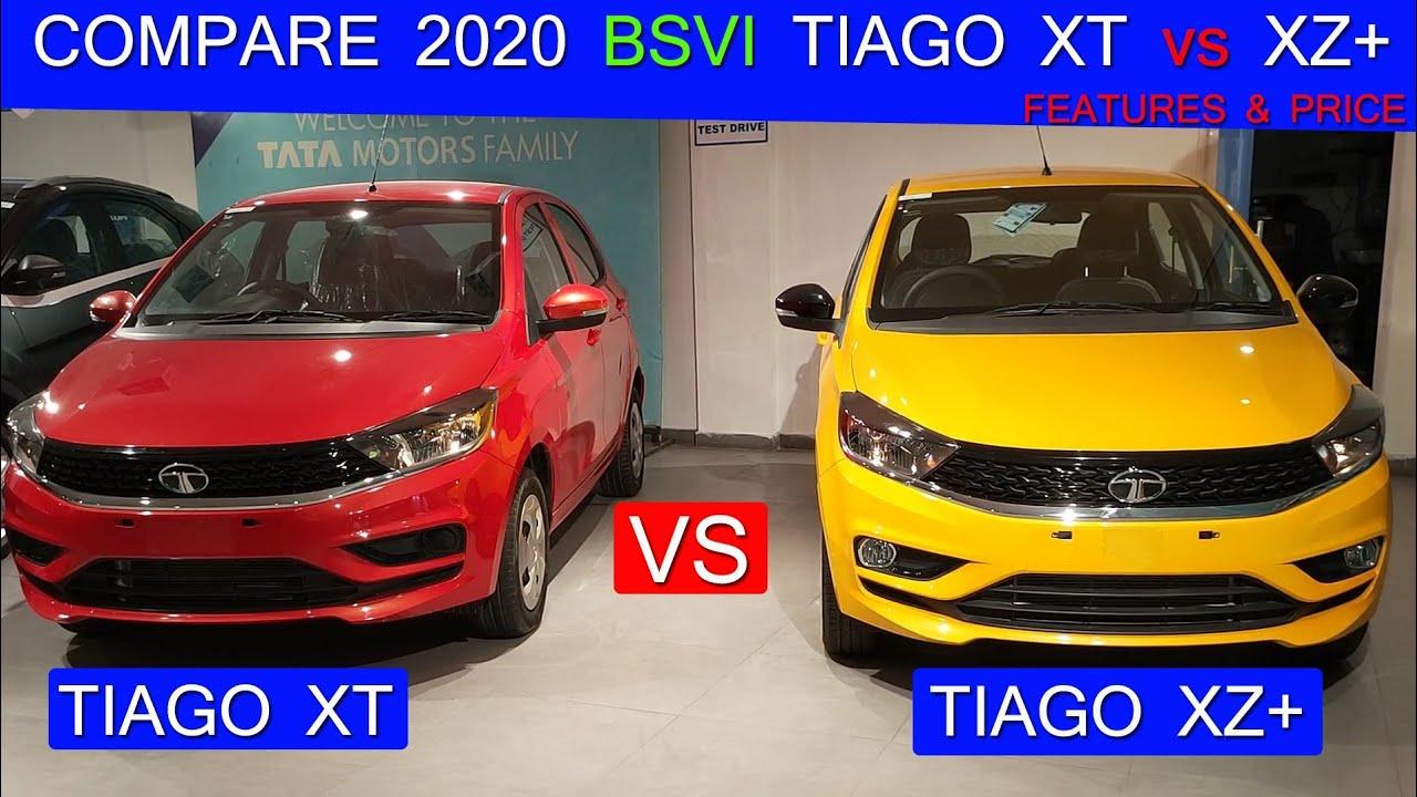 COMPARE TATA TIAGO XT vs XZ+ 2020 BS6 ! FEATURES & PRICE
