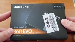 Samsung 860 Evo SSD 500 GB Unboxing Install & Comparison to 850 EVO 500 GB