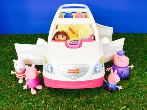 PEPPA Pig And DORA The EXPLORER Ride Musical Fisher Price SUV TOY!