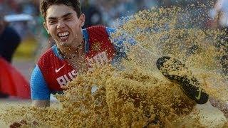 A.Menkov long jump 8.56 IAAF World Championships Moscow 2013 \ Меньков прыжок в длину 8.56