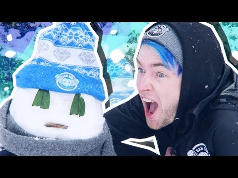 Download Youtube: HOW TO BUILD A DANTDM SNOWMAN!!!