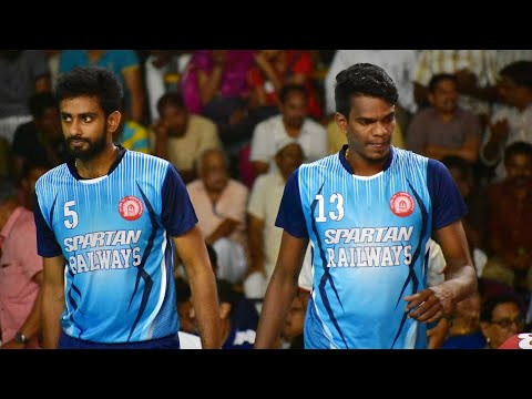 Karnataka Vs Indian Railways Trails Shot | 66 Senior National Volleyball at Kozhikode 2018| Watch HD