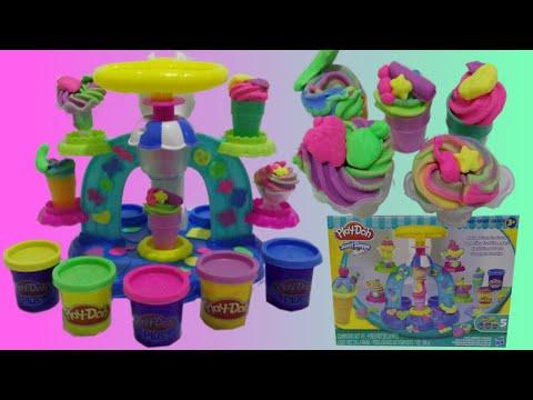 PLAY DOH ICE CREAM Sweet Shoppe Swirl & Scoop ♥ Toys World Video