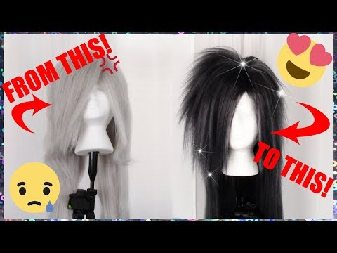 HOW TO DYE A SYNTHETIC WIG! (FOR COSPLAY)【TUTORIAL】