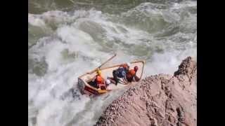Lava Falls right side Dories Update: Headcam plus Shore view