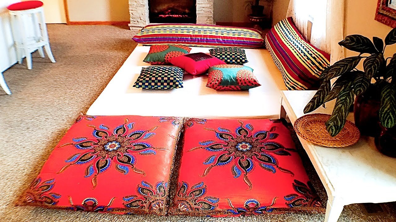 moroccan style living room decor tiny set diy inspired lounge pad tour youtube