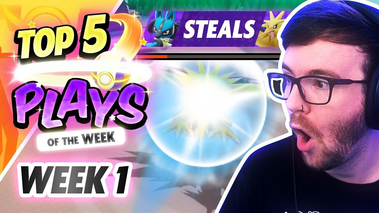 Top 5 PLAYS of the WEEK! The Best Pokemon Unite Plays! (Week 1)