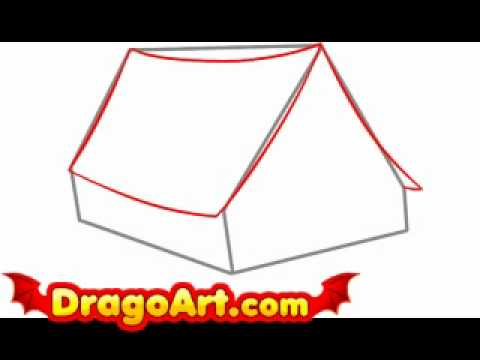 How to draw a tent step by step  sc 1 st  YouTube & How to draw a tent step by step - YouTube