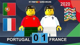 Portugal vs France 0 1 UEFA Nations League 2020 in Lego All Goals Full Highlights Lego Football
