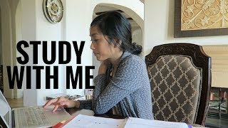 STUDY WITH ME | 1 hour real-time study session + music