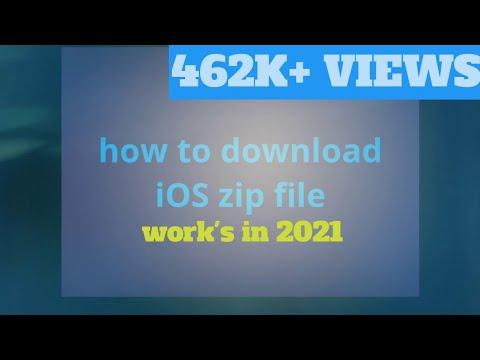 IOS zip file direct download