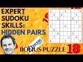 Expert Sudoku Skills: Hidden Pairs