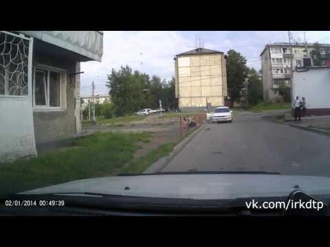 Семейный разборки, пьяна жена чуть не задавила мужа в Иркутске