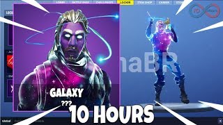 FORTNITE -New' GALAXY SKIN WITH LLAMA BELL EMOTE 10 HEURES