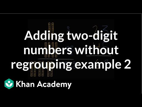 Adding Two-digit Numbers Without Regrouping | Early Math | Khan Academy