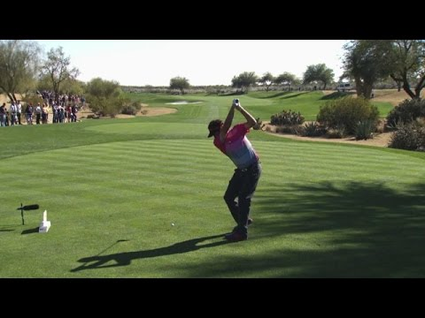 Bubba Watson slo-mo swing analysis at Waste Management