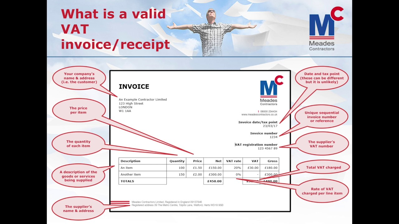 what is a valid vat invoice or receipt