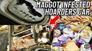 Car Detailing A Nasty Maggot Filled Hoarder's Car... Interior Restoration How To