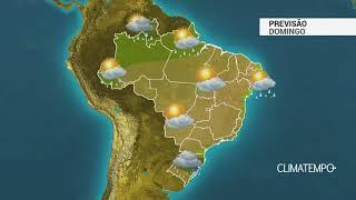 Previsão Brasil – Frente fria provoca chuva no Sul