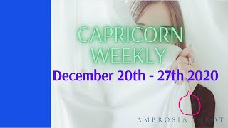 Capricorn Weekly Love Check-in Tarot  (Your person is not accepting the situation) December 20-27