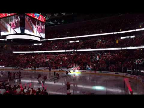 4/13/2017 Washington Capitals 2017 NHL Playoffs live intros!! Caps vs. Toronto Maple Leafs Game 1!