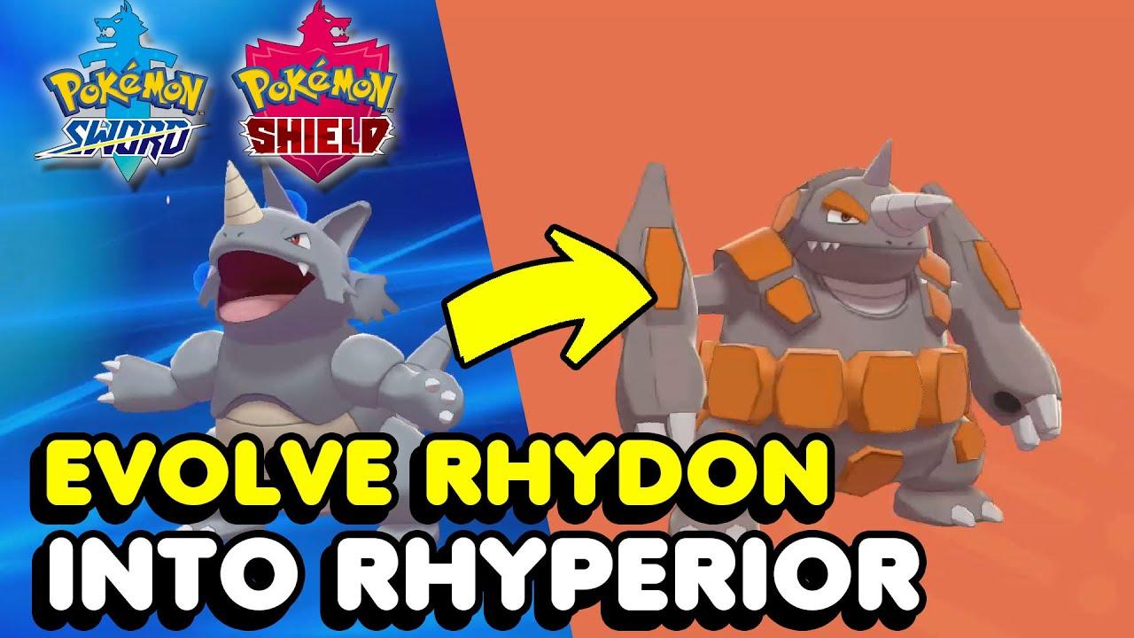 How To Evolve Rhydon Into Rhyperior In Pokemon Sword Shield Youtube