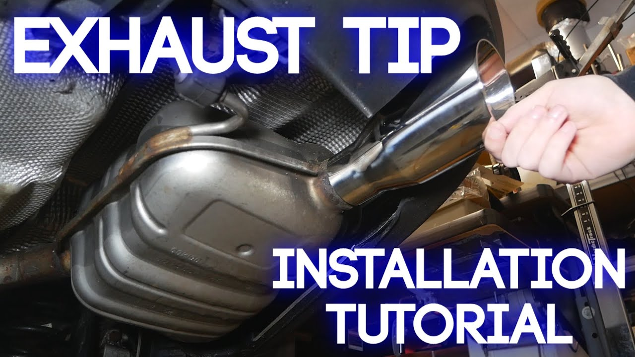 how to install exhaust tips aftermarket muffler tip installation tutorial